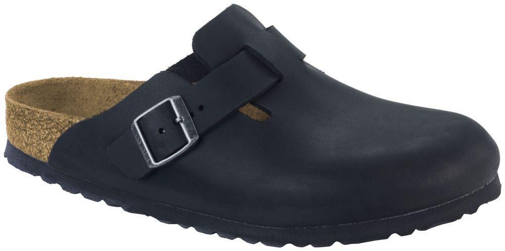 Boston Black Soft Footbed Nubuck leather