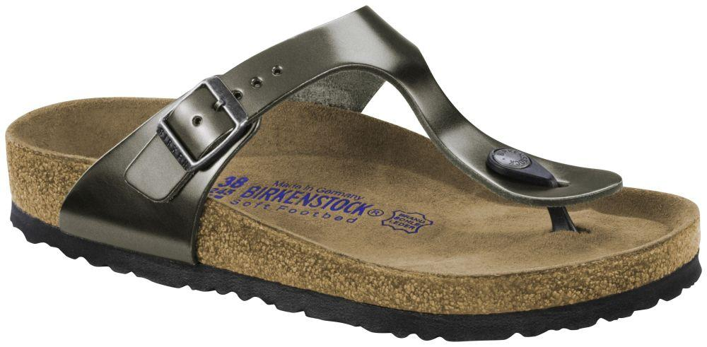 Gizeh Metallic Anthracite Soft Footbed smooth leather