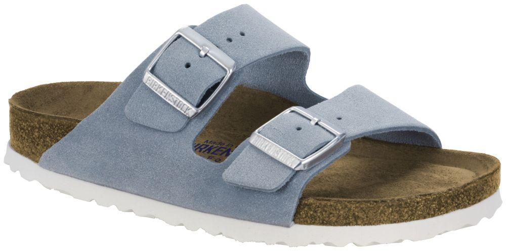Arizona Light Blue Soft Footbed suede leather