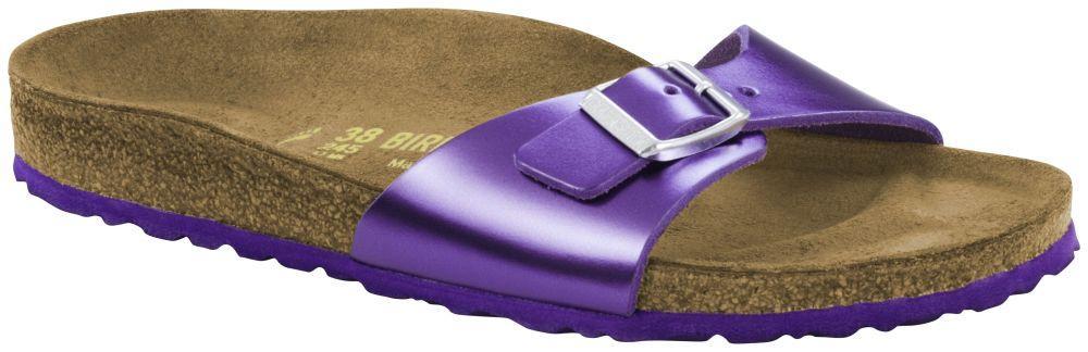 Madrid Metallic Purple Leather