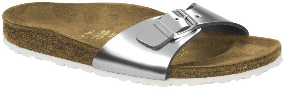 Madrid Metallic Silver Leather