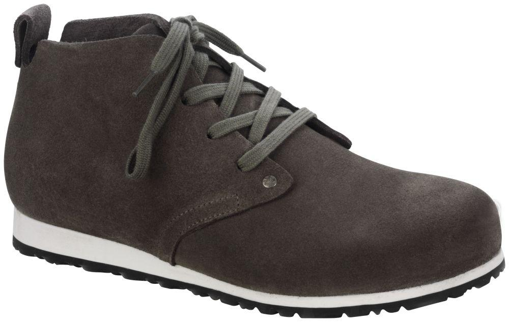 Dundee Plus Dark Taupe suede leather