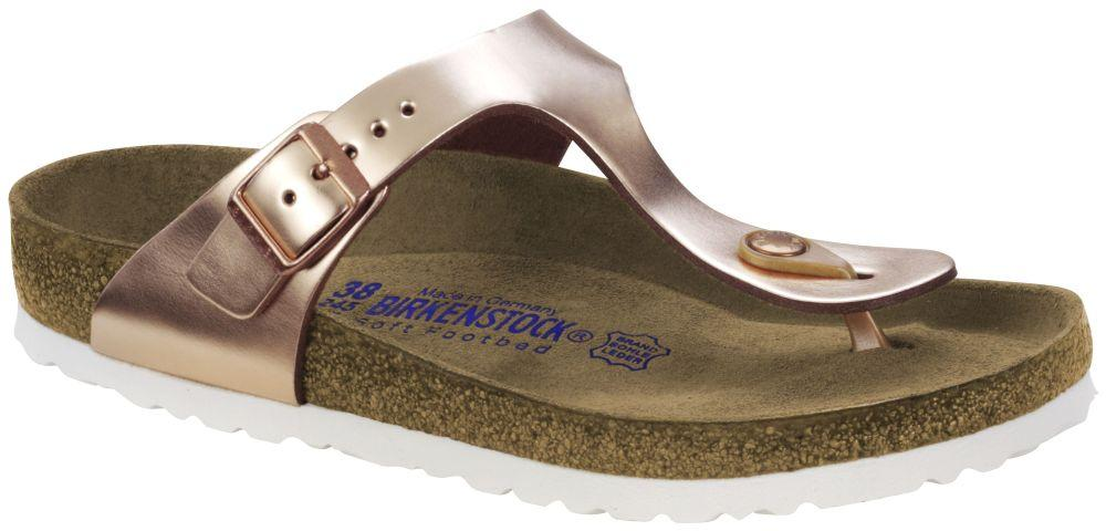 Gizeh Metallic Copper Soft Footbed smooth leather