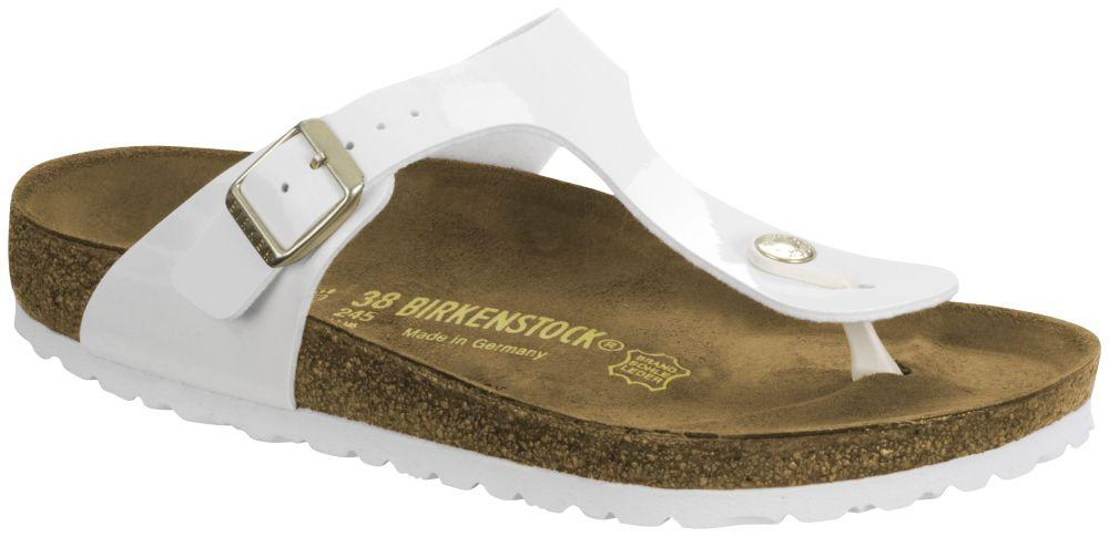 Gizeh Weiss LS White Patent Birko-Flor patent