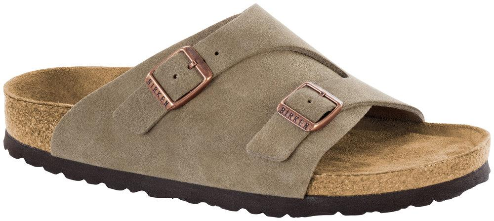 Zürich Taupe Soft Footbed suede leather