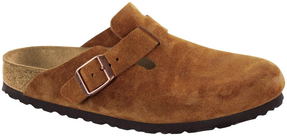Boston Mink Soft Footbed suede leather