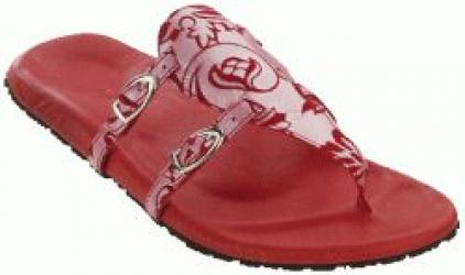 Chime Red suede leather