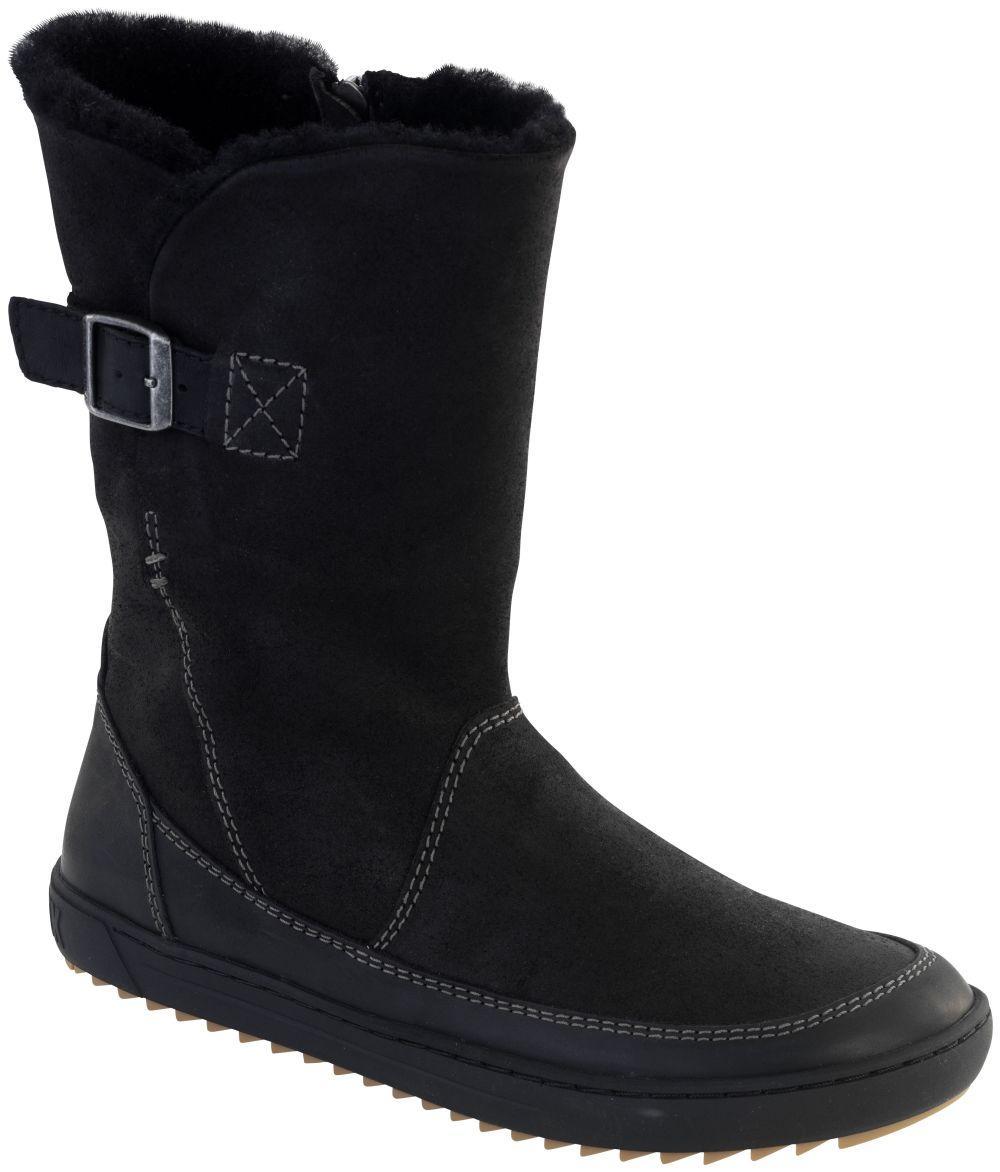 Woodbury Black Lamb suede leather