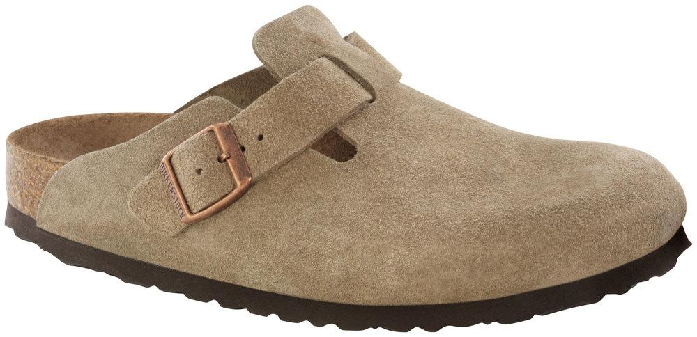 Boston Taupe Soft Footbed suede leather