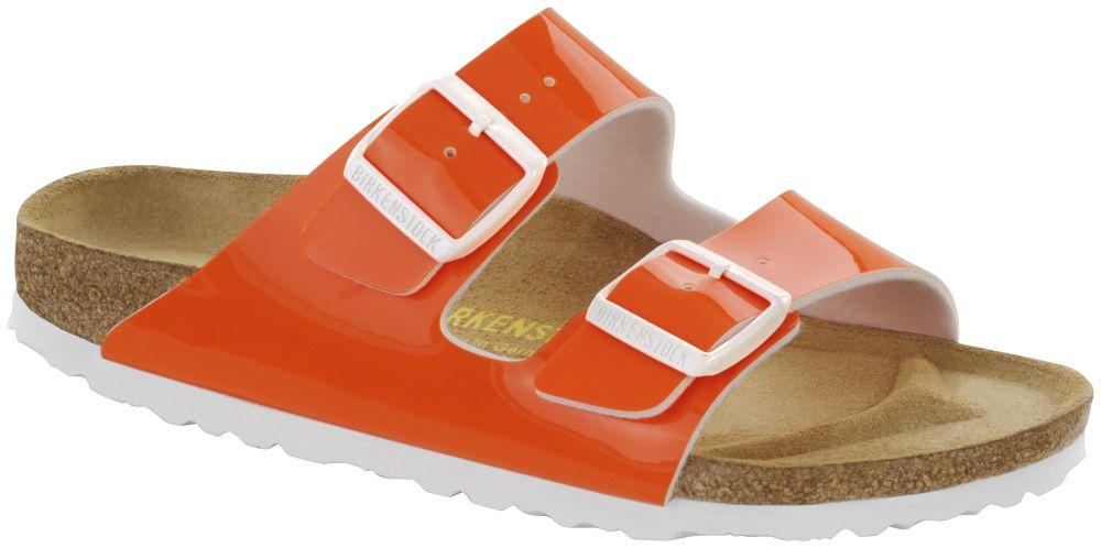 Arizona Neon Orange Patent Birko-Flor patent