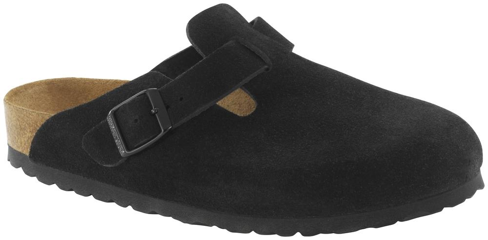 Boston Black Soft Footbed suede leather