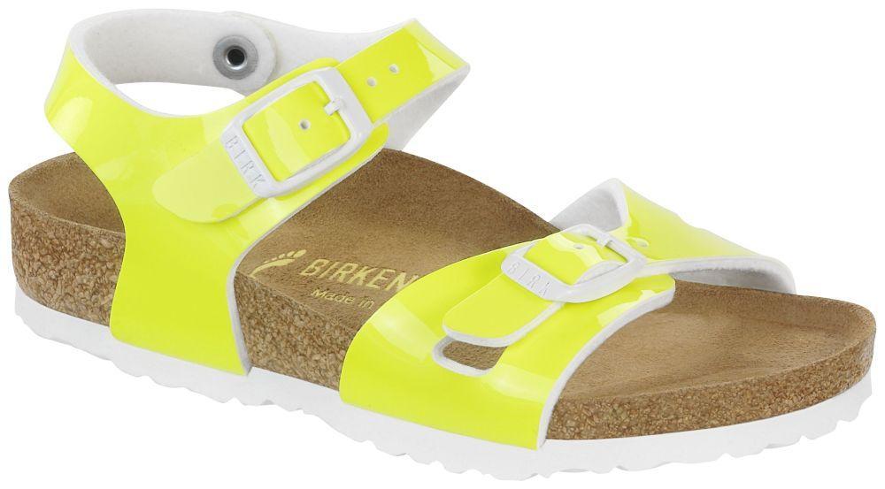 Rio Kids Neon Yellow Patent Birko-Flor patent
