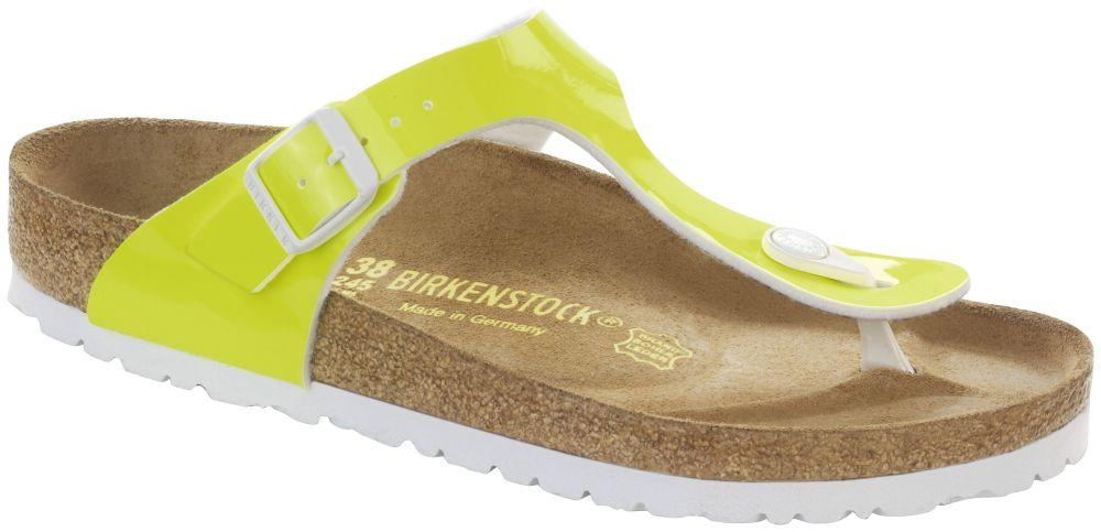 Gizeh Neon Yellow Patent Birko-Flor patent