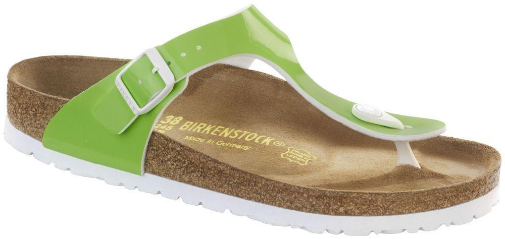Gizeh Neon Green Patent Birko-Flor patent
