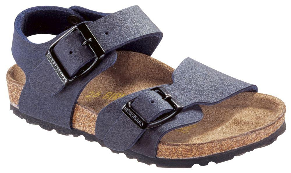 New York Kids Navy Birko-Flor Nubuck