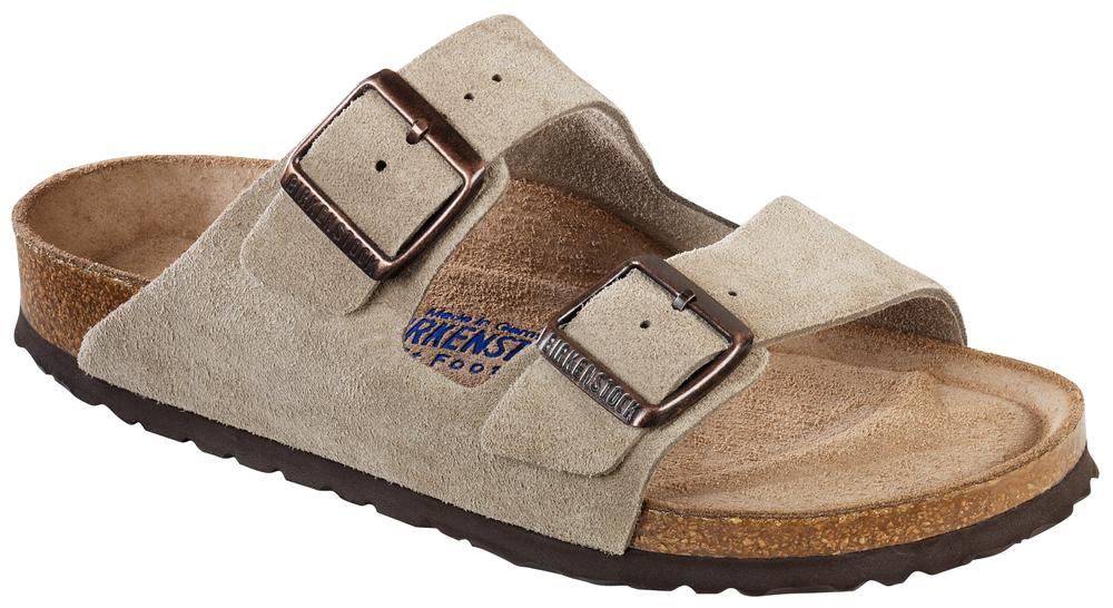 Arizona Taupe Soft Footbed suede leather