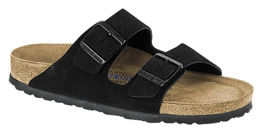 Arizona Black Soft Footbed suede leather