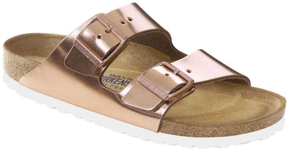 Arizona Metallic Copper Soft Footbed smooth leather